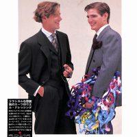 パーティー・ドレッシングの贅沢交響楽:クラシカルな雰囲気のスーツのウエル・ドレッシング