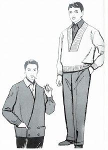 50〜60年代に流行したニット&シャツ・スタイル:56年冬向けのニットウェア