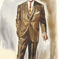 50〜60年代に流行したスーツ・スタイル:新しい1ボタン型スーツ