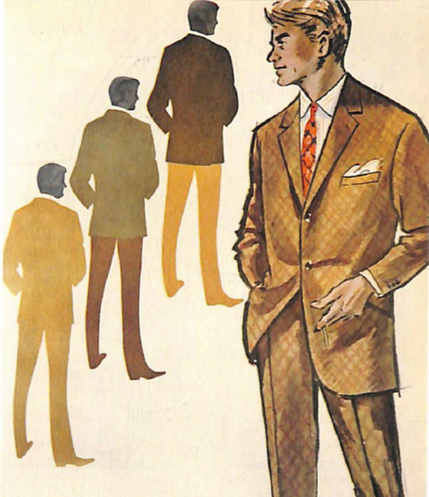50〜60年代に流行したスーツ・スタイル:オリーブグリーンのスーツ