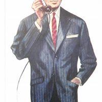 50〜60年代に流行したスーツ・スタイル:コンチネンタル・モデルのスーツ