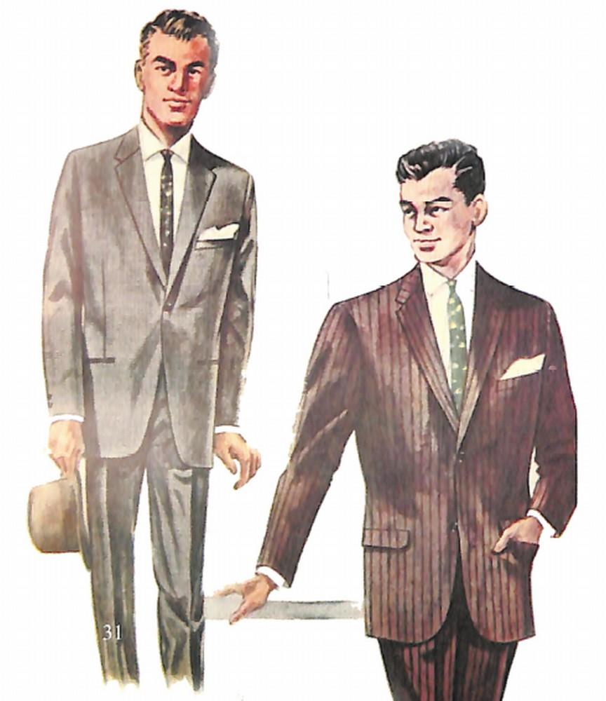 50〜60年代に流行したスーツ・スタイル:新旧2体のアメリカンスーツ