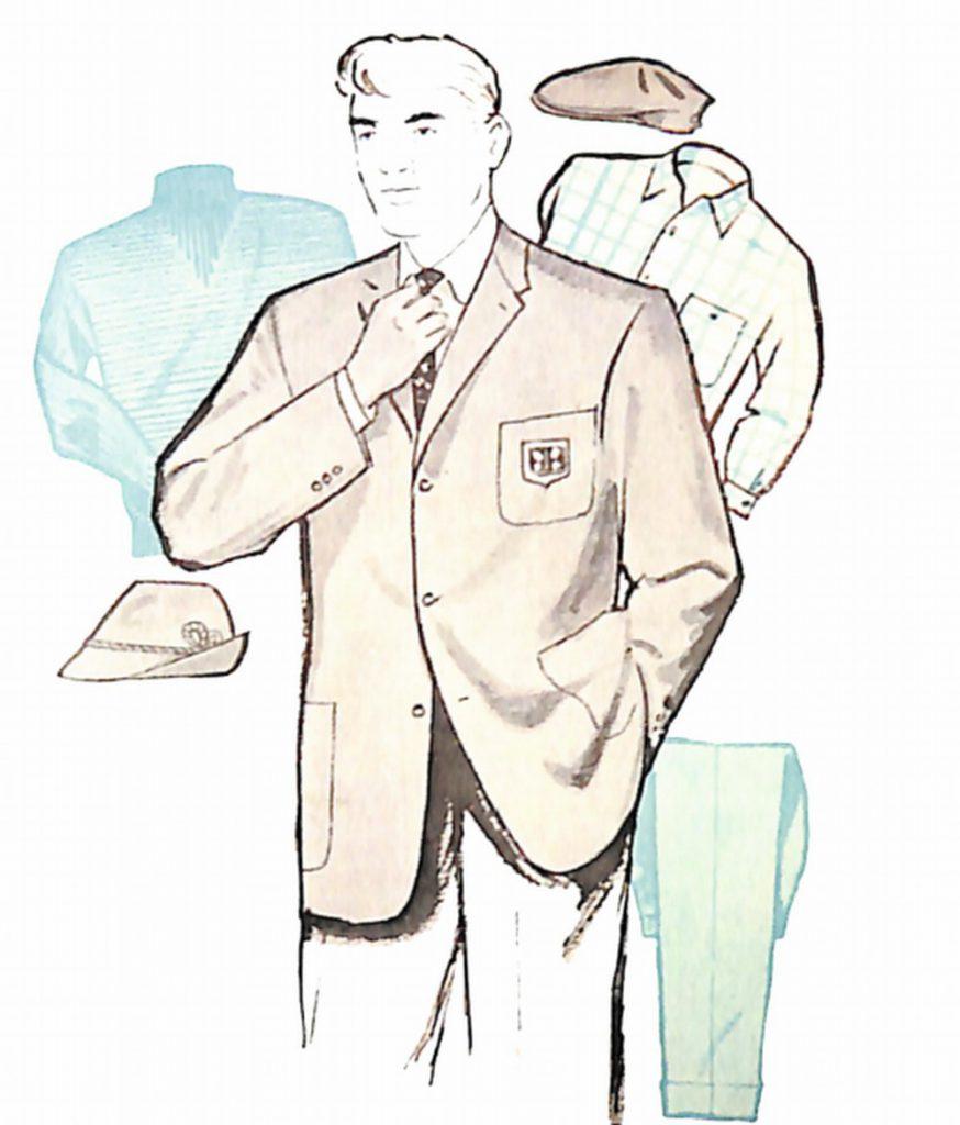 50〜60年代に流行したジャケット・スタイル:グレーフラノのブレザーコート