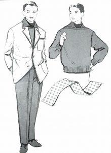 50〜60年代に流行したニット&シャツ・スタイル:セーターの新しい着こなし