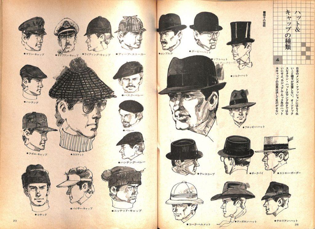 ハット&キャップの種類:メンズモード事典 男の身だしなみ百科
