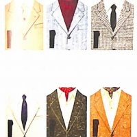50〜60年代に流行した配色スタイル:さまざまなVゾーン