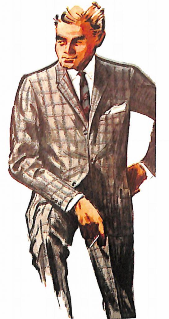 50〜60年代に流行した配色スタイル:グレー系のカラーコーディネート