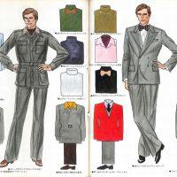 配色と着こなし演出術「グレーの配色イラスト」:メンズモード事典 男の身だしなみ百科