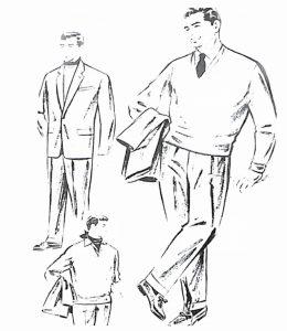 50〜60年代に着こなしスタイル:セーターを加えるスーツの着こなし