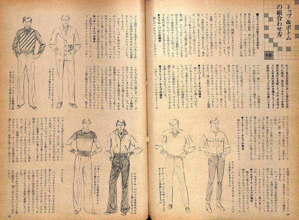 配色と着こなし演出術「トップ&ボトムの組合わせ方」:メンズモード事典 男の身だしなみ百科