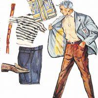 50〜60年代に着こなしスタイル:ブレザーのリゾート風着こなし