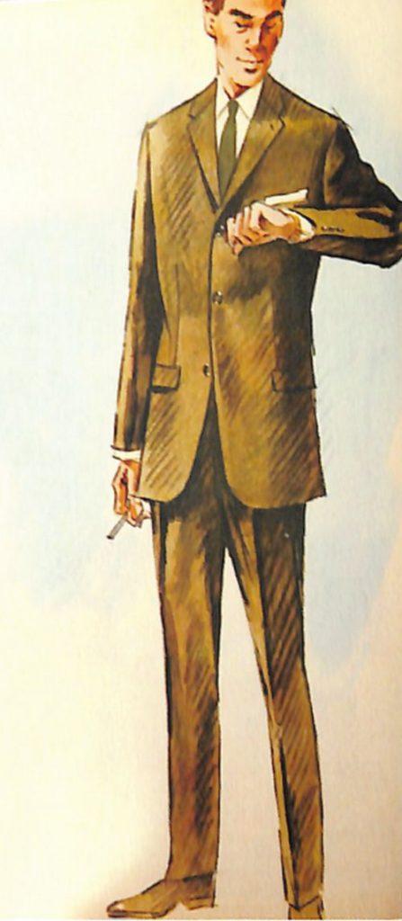 50〜60年代に流行したスーツ・スタイル:シルエット・ロングのスーツ