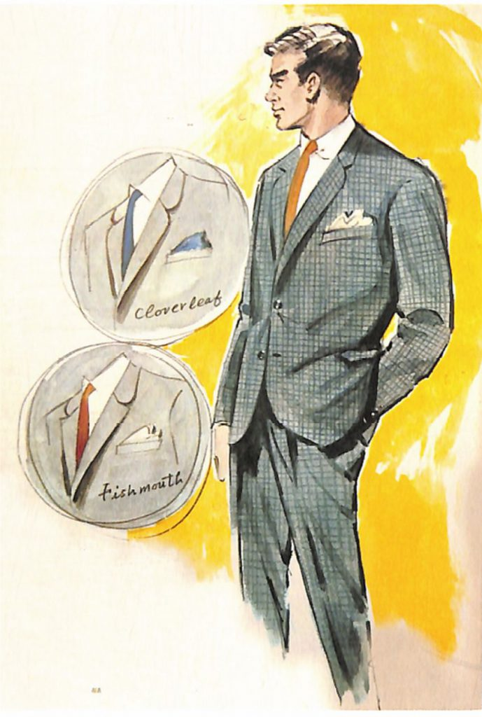 50〜60年代に流行したスーツ・スタイル:スタイル:クローバーリーフ・ラペルのスーツ