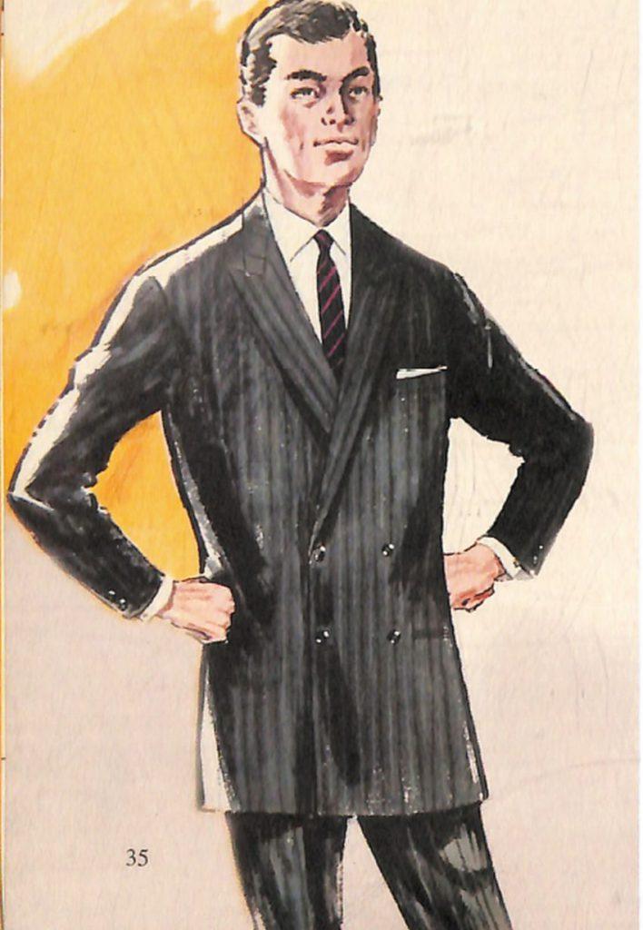 50〜60年代に流行したスーツ・スタイル:スタイル:ダブルスーツの復活