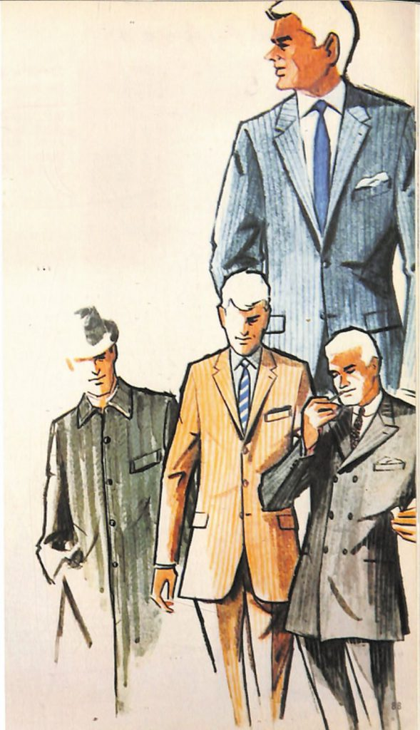 50〜60年代に流行したスーツ・スタイル:ストライプ・スーツ&コート