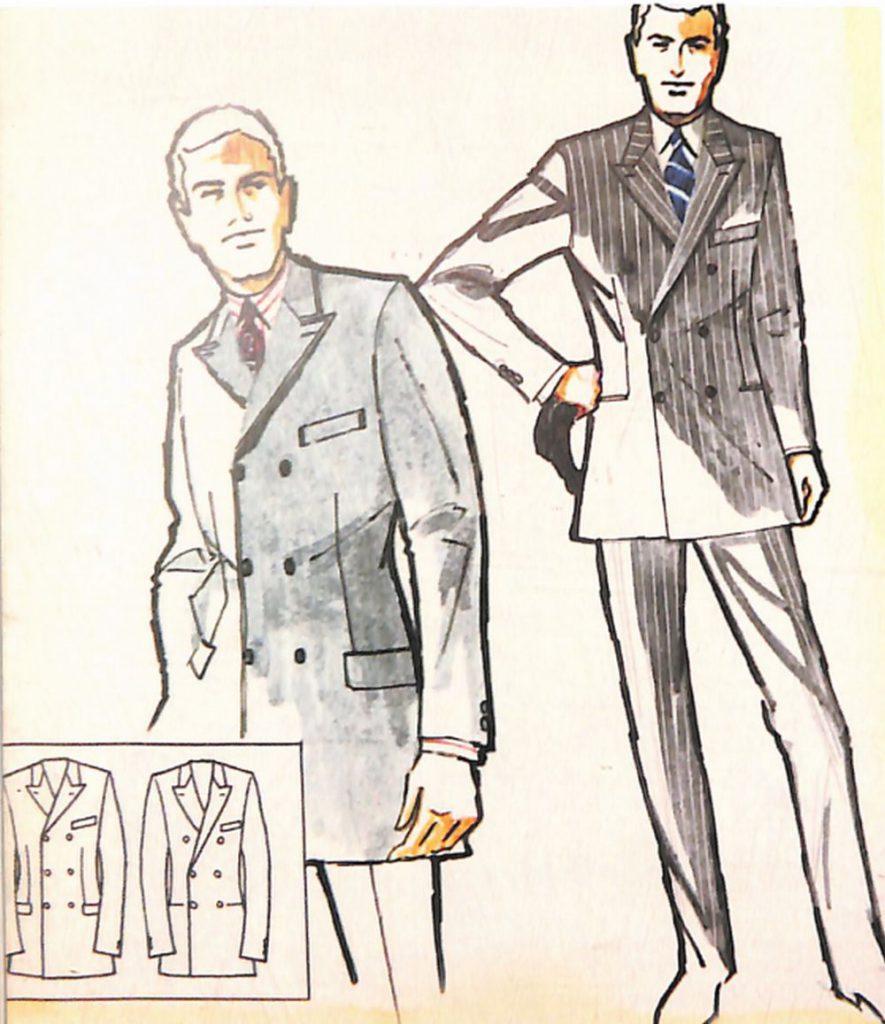 50〜60年代に流行したスーツ・スタイル:ロング・ダブルと呼ばれる英国調スーツ