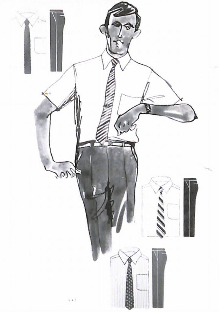 50〜60年代に流行したニット&シャツ・スタイル:ワイシャツの配色