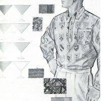 50〜60年代に流行したニット&シャツ・スタイル:ハイスピリット・カラーのシャツ
