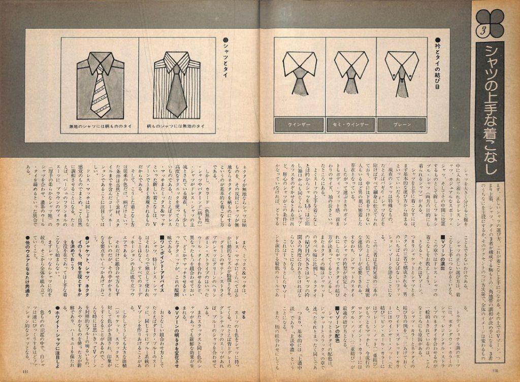 きちんとした装いこそ男の身だしなみ。メンズ・モードのすべてを網羅した大百科事典:シャツの上手な着こなし